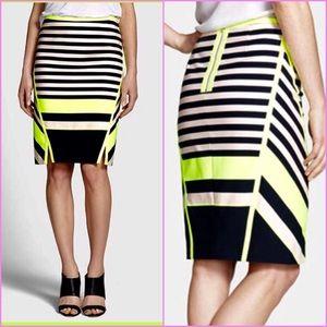 18e22cb4d9127f Ted Baker Skirts | Candy Bar Neon Stripe Pencil Skirt | Poshmark