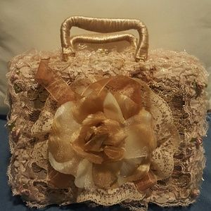 Handbags - Laced Wicker Purse