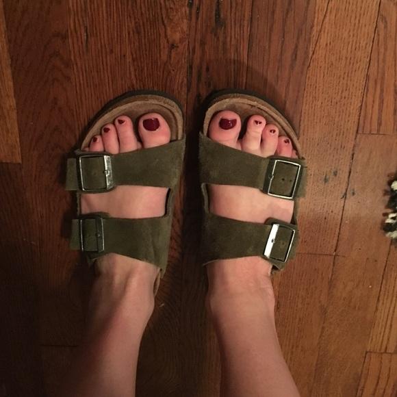 8f751ca40806 Birkenstock Shoes - Olive green Birkenstock sandals
