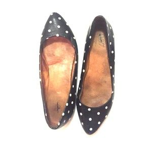 Madewell Shoes - Polka dot Madewell leather flats sz 7