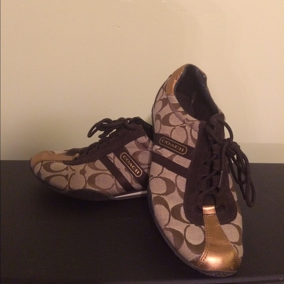 67% off Coach Shoes - Size 8 Coach Printed Tennis Shoes from ...