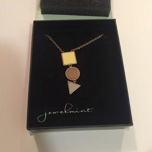 Jewel mint long necklace