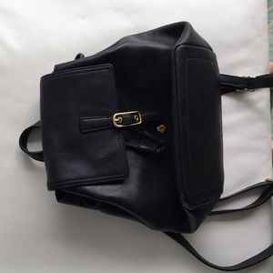 Authentic coach leather backpack black