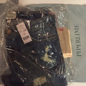 Current/Elliott Denim - NWT Current/Elliot stiletto Jodie shredded sz 26