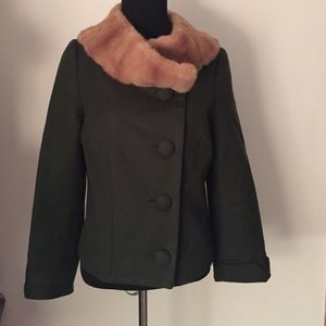 Edward An Jackets & Blazers - Short Jacket with Faux Fur