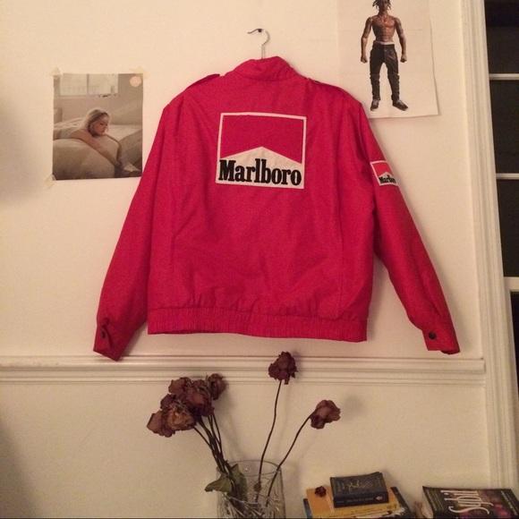 Marlboro Jackets Amp Coats Rare Vintage Red Puffer Jacket