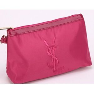 nwt ysl yves saint laurent signature black clutch cosmetics bag ysl parfums