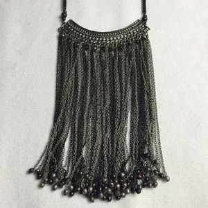 Free People Jewelry - Gunmetal grey chained statement necklace
