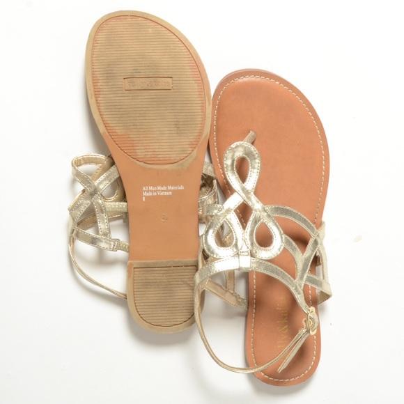 2a8cc25b89e6 Kelly   Katie Shoes - Kelly   Katie vegan leather metallic flat sandals