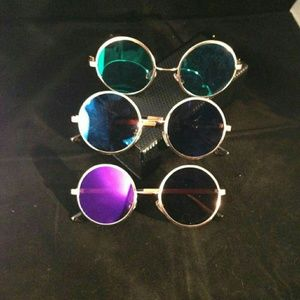 Round Color Lense Sunglasses
