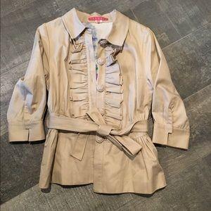 Khaki Ruffled Jacket