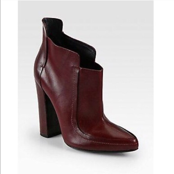 durable in use new style of 2019 first look Alexander Wang Kim Leather Burgundy Booties