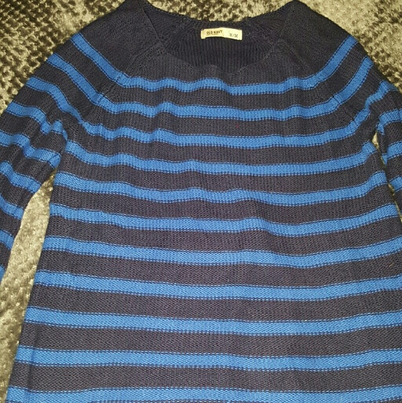 43% off Old Navy Sweaters - Old navy blue striped sweater from ...