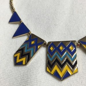 Francesca's Collections Jewelry - Blue and Gold statement necklace