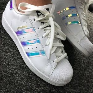 ISO Adidas Superstar Iridescent Holographic Shoes