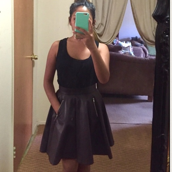 29 h m dresses skirts new faux leather skater