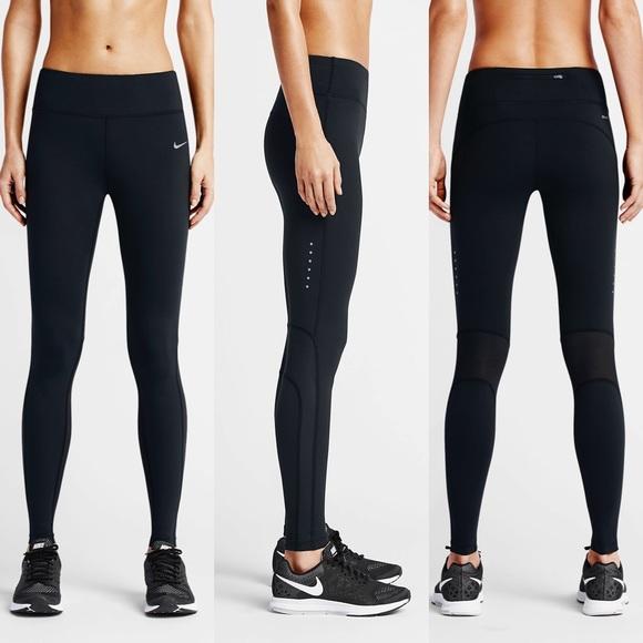 los angeles 70292 b148c Nike Epic Lux Sheer Panel Leggings