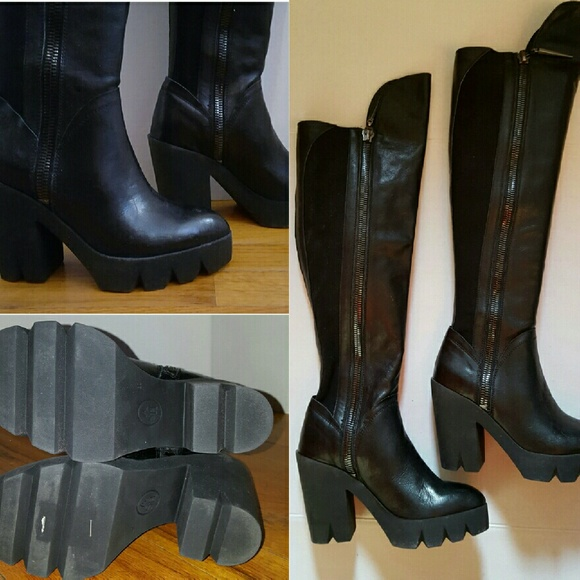 66 ash shoes ash leather knee high boots from all