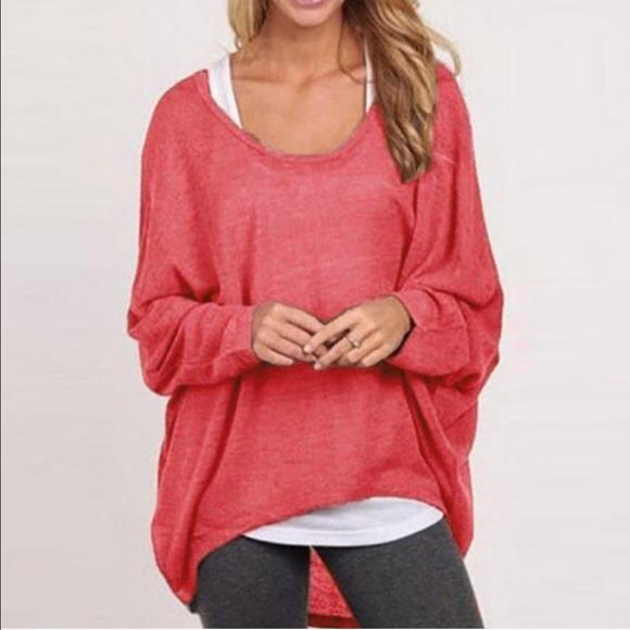 Pink Dolman Sleeve Top L from Tessa's closet on Poshmark