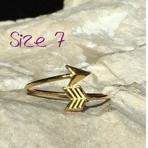 Sterling Silver Gold Plated Bypass Arrow Ring