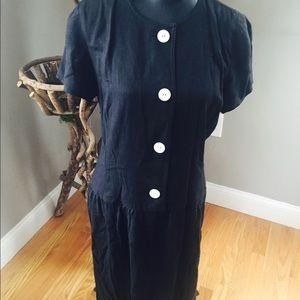 Chic vintage linen dress