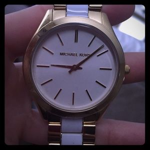 MICHAEL Michael Kors Other - Michael kors white & gold watch