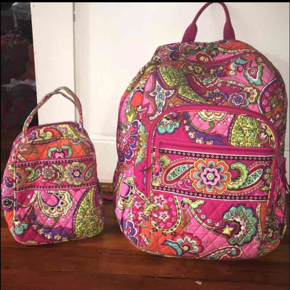 Vera Bradley Campus Backpack And Lunchbox