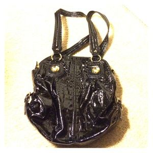 new directions Handbags - Black shiny purse