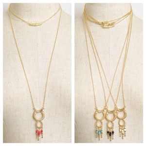 Jewelry - Double Hoop Drop Necklace