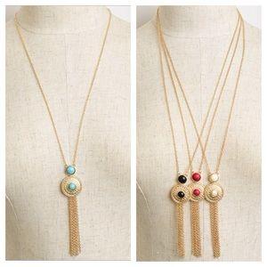 Jewelry - Gem Tassel Drop Necklace- 1 Left