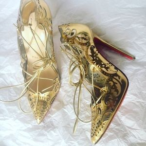 Christian Louboutin Shoes - 🚨louboutin gold impera size 38 /37/37.5 120 mm