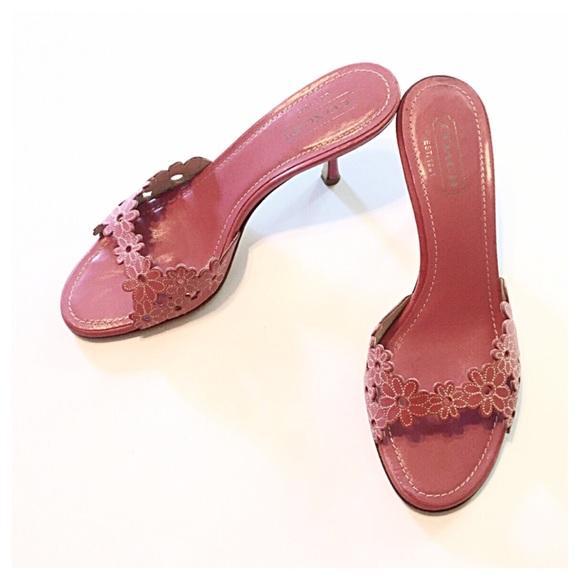 72% off Coach Shoes - 🚫SOLD🚫Coach Pink Clarissa Kitten Heel ...