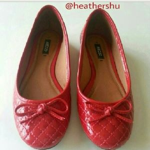 Quilted Red flats