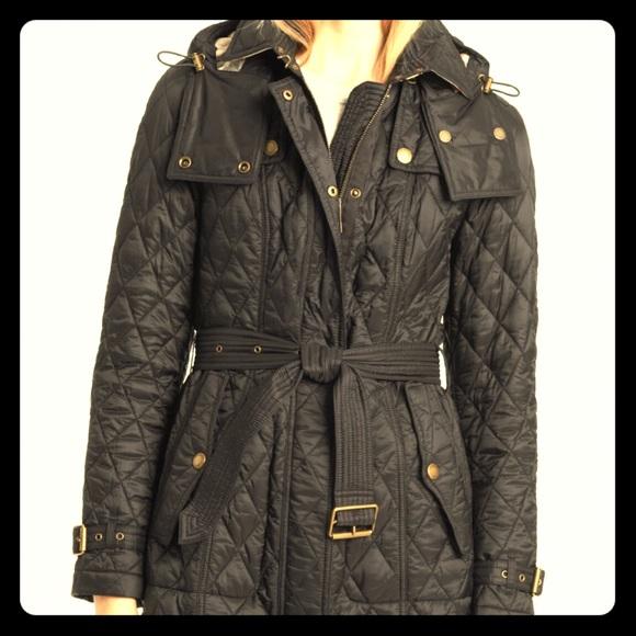 Burberry Jackets Coats Finsbridge Quilted Belt Jacket Poshmark