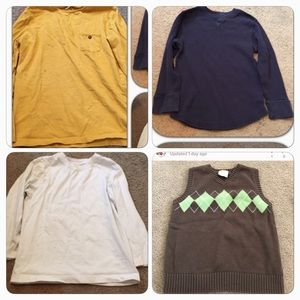 Zara Other - 3 long sleeve shirts for boys & a vest. sizes 7/8