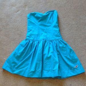 Hollister Dresses & Skirts - Turquoise Strapless Dress