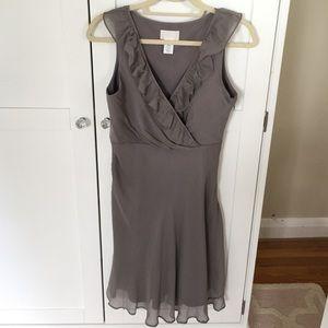 Gray j.crew 100% silk dress, size 4