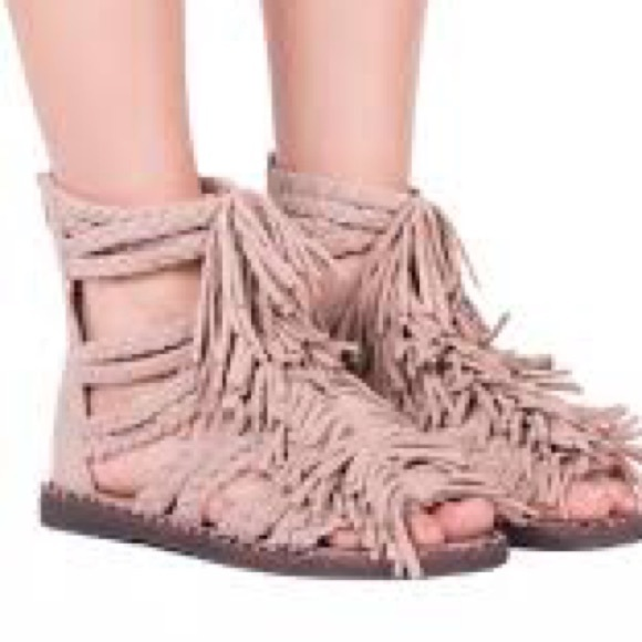 bf7b07319eff Jeffrey Campbell Shoes - Jeffrey Campbell Santana Fringe Sandals