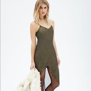 Metallic cami tulip dress