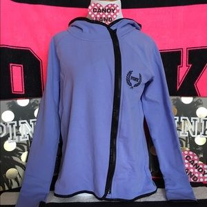 🆕VS PINK purple high low half zip