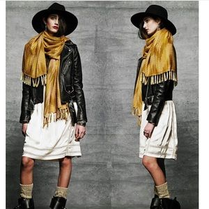 Ketzali Accessories - ✨LAST ONE✨ Geo Scarf• wrap• sarong mustard yellow