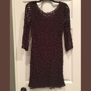 INC International Concepts Brown Lace Dress
