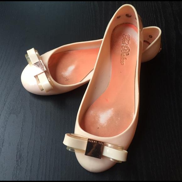 Ted Baker scarpe   Light rosa Escinta Bow Jelly Flats   Poshmark