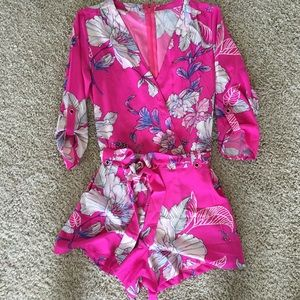 Other - Hot pink romper Yumi Kim inspired