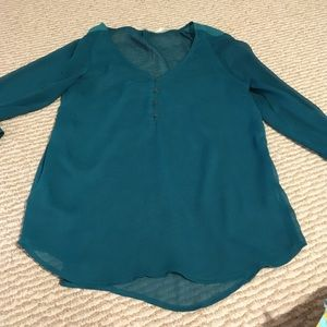 UO shear Teal Blouse