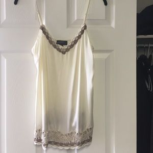 Hale Bob cream with embroidered detail cami