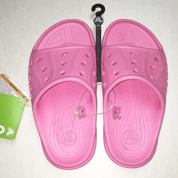 0577f6746adc Size J2 CROCS Kids Baya Slide - Pink Lemonade