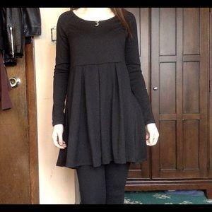 Doublju Dresses & Skirts - Doublju black long sleeve flare dress