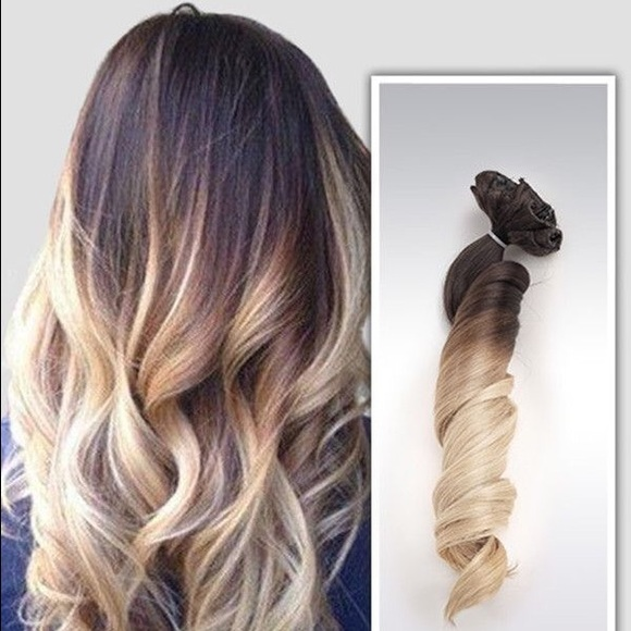 Other Ombre Hair Extensions Brunette To Blonde Poshmark