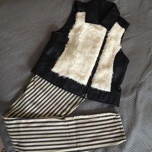 BB Dakota faux leather fur vest